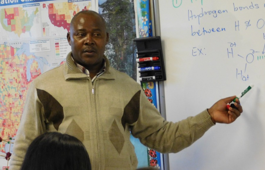 Mr. Atanga lecturing. Photo by: Yearbook Staff