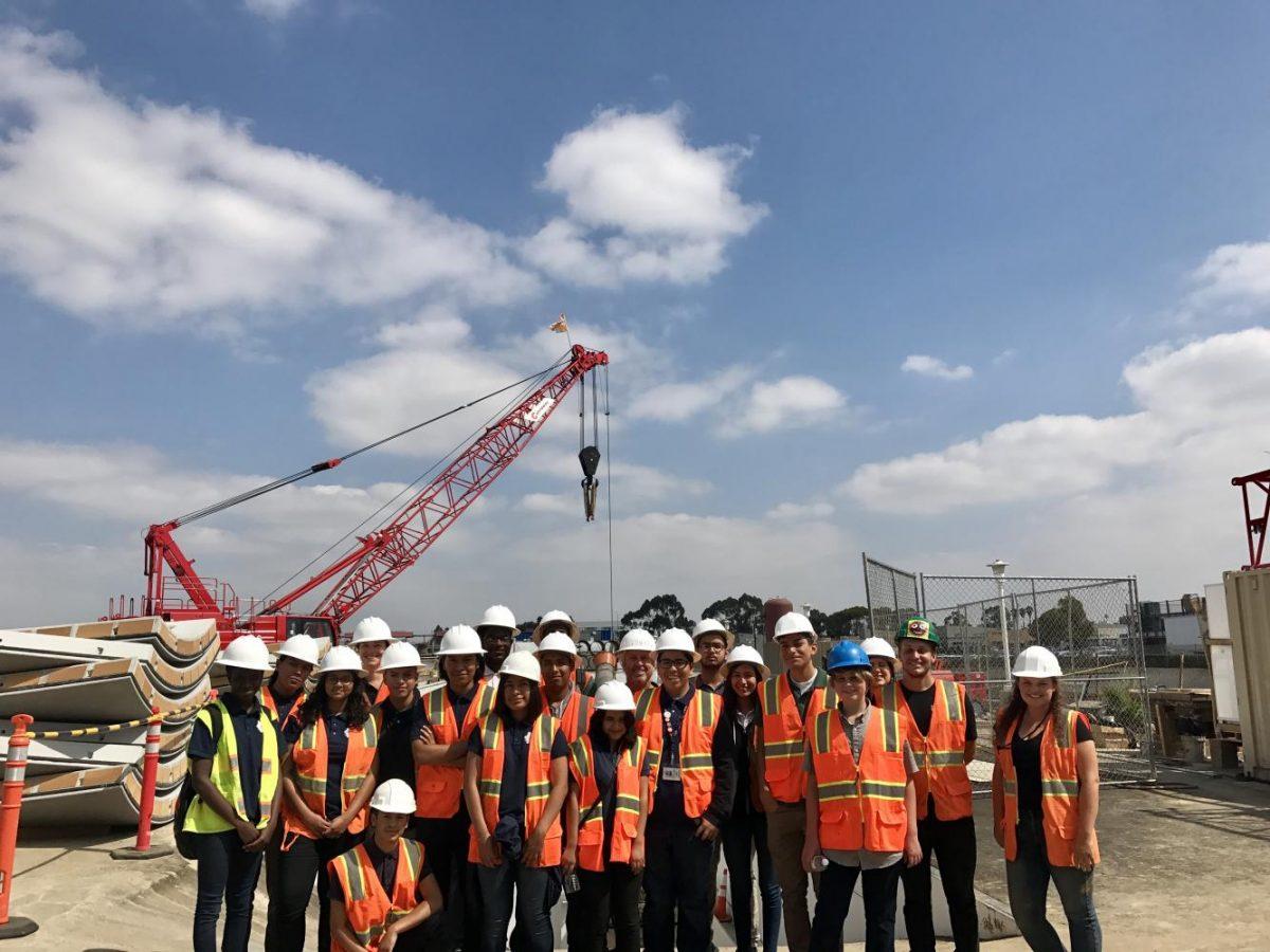 HMSA students at the Boring Company.  Photo by Lilian Haney