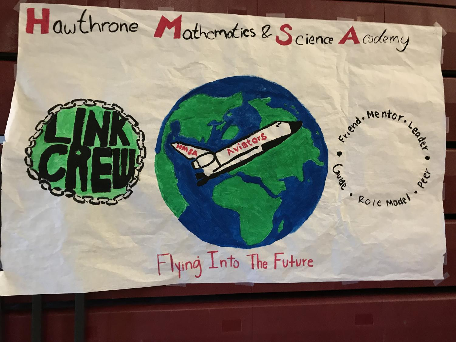 The poster Lawndale's Link Crew made for HMSA.