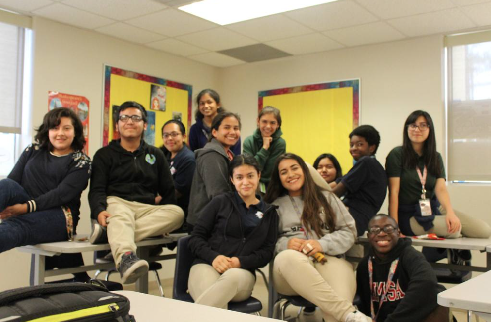 The Theater and Film Club at their Friday meeting.