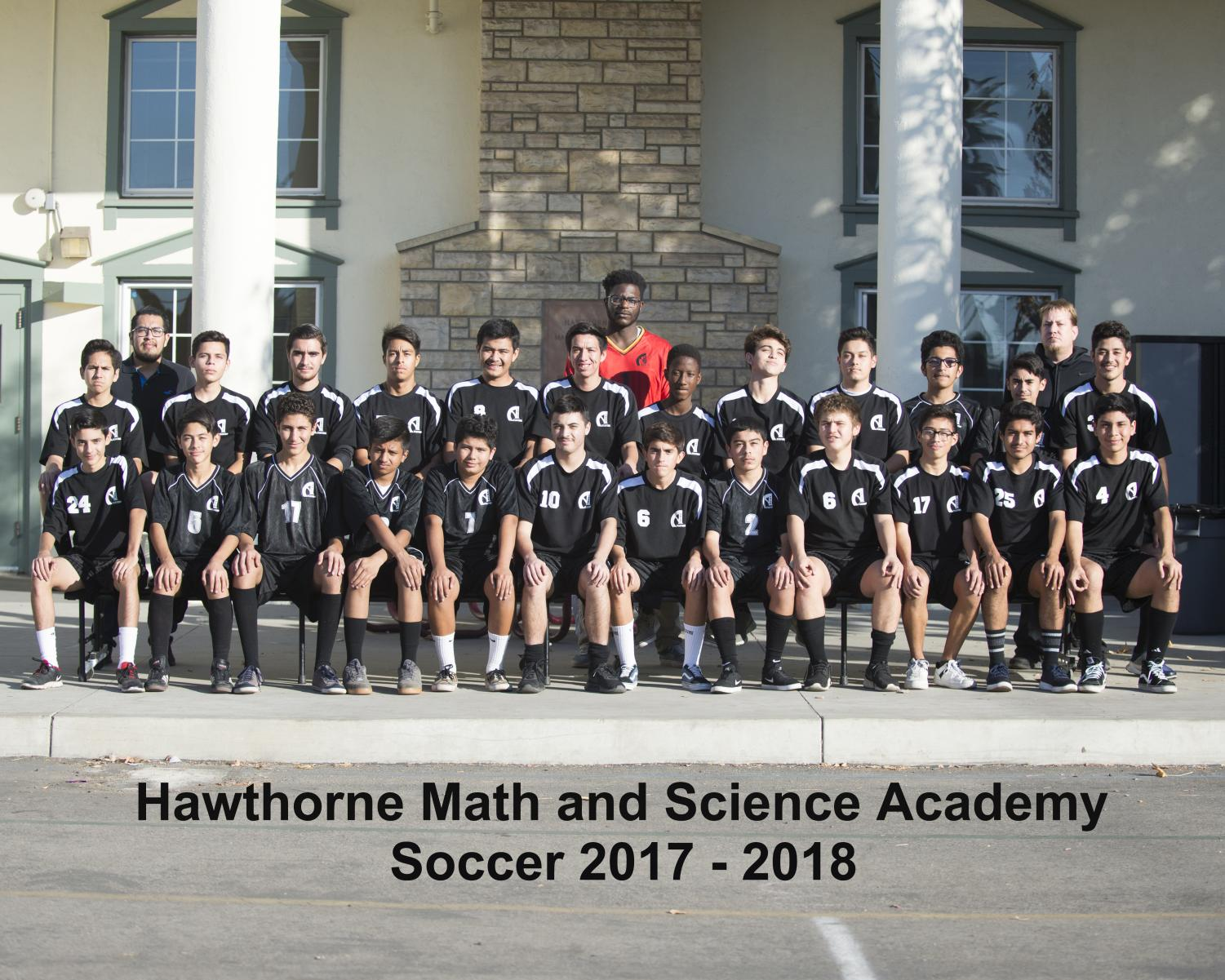 Boys soccer taking their team pictures for the 2017-2018 season (Photo Source: Mr. Launius).