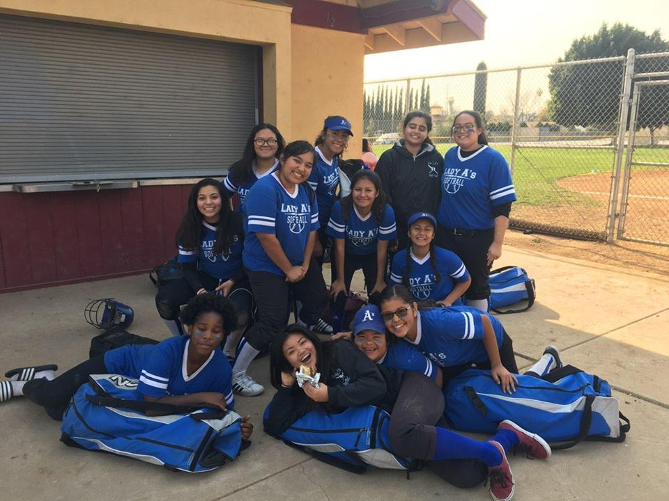 The Lady A's after posing for a picture after their game against Lennox (Photo Source: Mr. Dura).