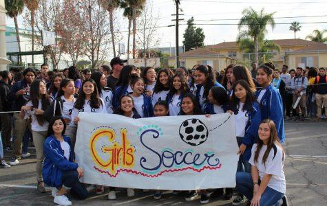 Pep Rally: Girls and Boys Soccer Team
