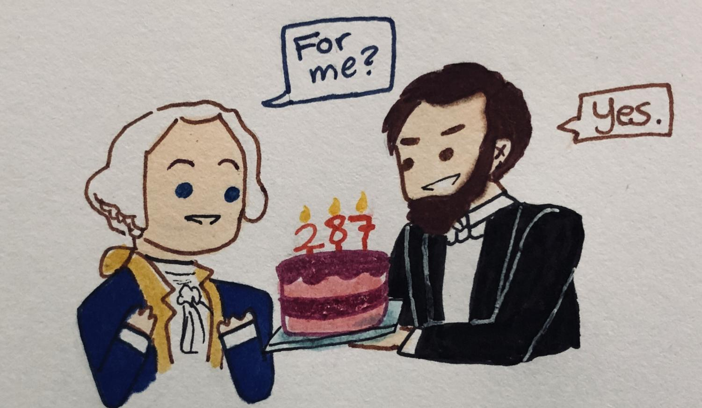 Abraham Lincoln celebrating George Washington's birthday